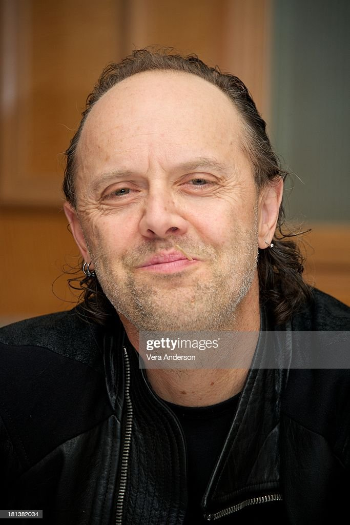 Lars Ulrich at the 'Metallica: Through The Never' Press Conference at the Fairmont Hotel on September 17, 2013 in San Francisco, California.