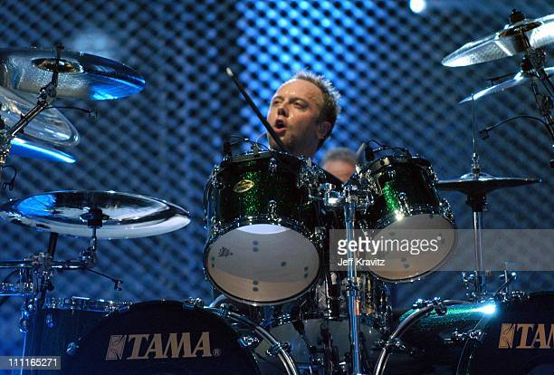 Lars Ulrich during MTV Icon Metallica Rehearsal Day2 at Universal Studios Stage 12 in Universal City CA United States