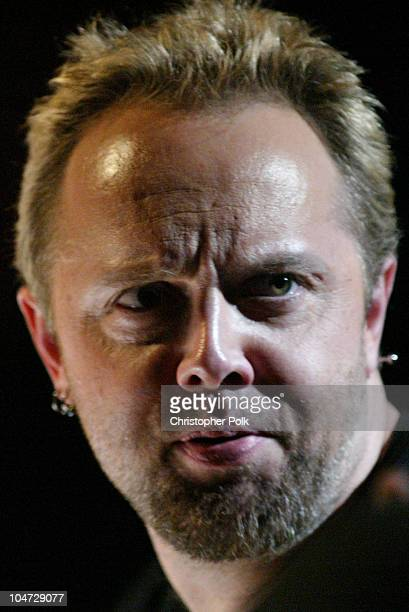 Lars Ulrich during MTV Icon Metallica Show at Universal Studios Stage 12 in Universal City CA United States