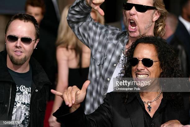 Lars Ulrich James Hetfield and Kirk Hammett of Metallica