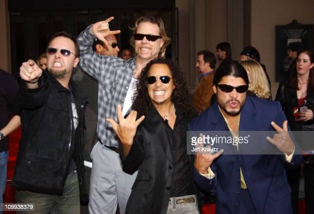 Lars Ulrich James Hetfield Kirk Hammett and Robert Trujillo of Metallica