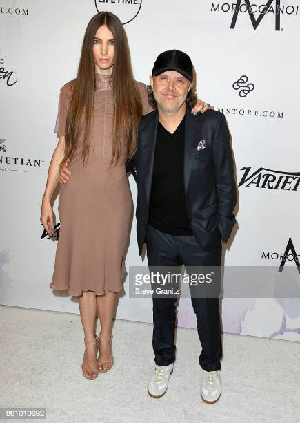 Lars Ulrich Jessica Miller arrives at the Variety's Power Of Women Los Angeles at the Beverly Wilshire Four Seasons Hotel on October 13 2017 in...