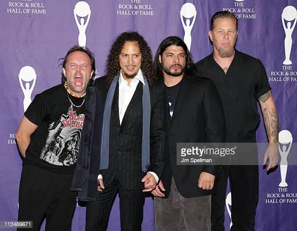 Lars Ulrich Kirk Hammett Robert Trujillo and James Hetfield of Metallica presenters/performers