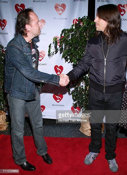 Lars Ulrich of Metallica and Anthony Kiedis of the Red Hot Chili Peppers