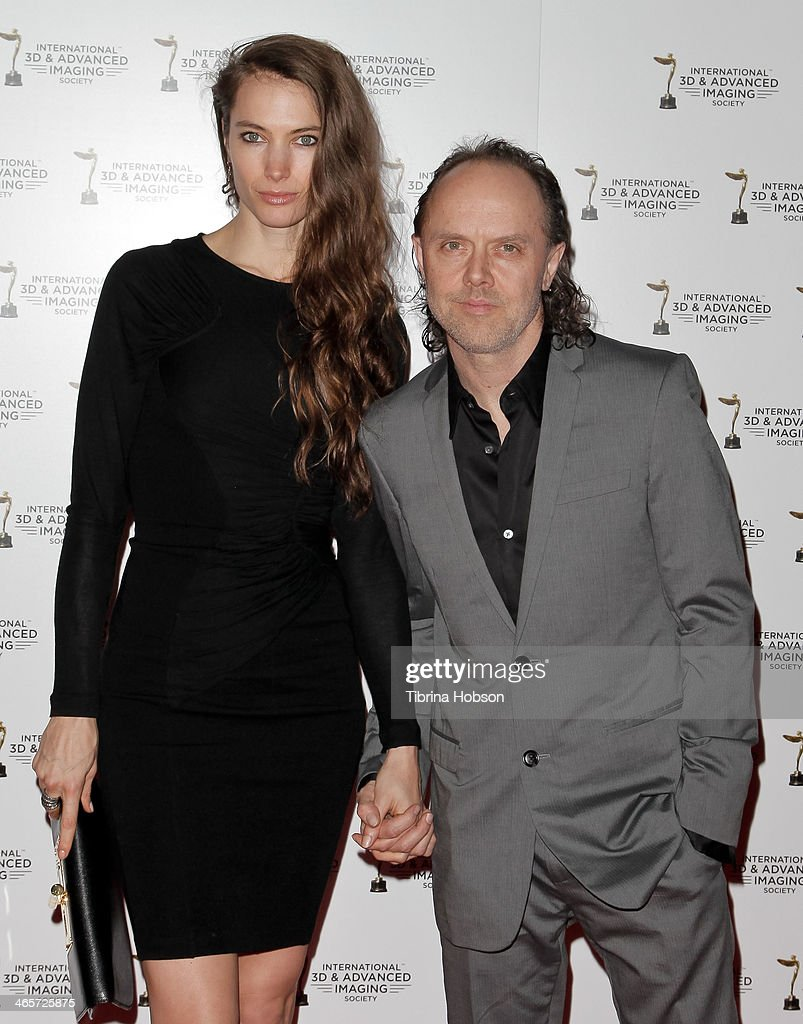 Lars Ulrich (R) of Metallica and Guest attend the annual International 3D and Advanced Imaging Society's Creative Arts Awards at Warner Bros. Studios on January 28, 2014 in Burbank, California.