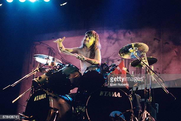 Lars Ulrich of Metallica at the Brendan Byrne Arena in East Rutherford New Jersey on March 1 1989