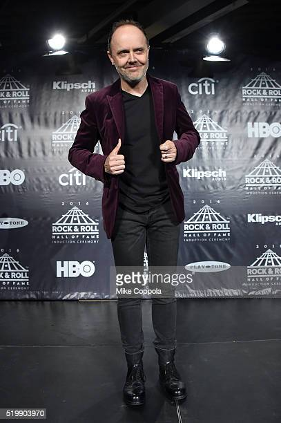 Lars Ulrich of Metallica attends the 31st Annual Rock And Roll Hall Of Fame Induction Ceremony at Barclays Center on April 8 2016 in New York City