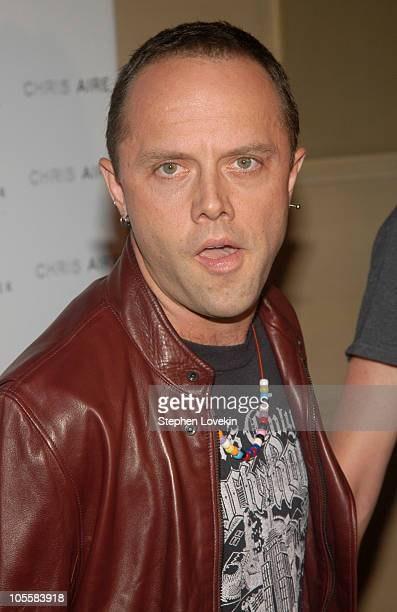 Lars Ulrich of Metallica during Olympus Fashion Week Spring 2005 Chris Aire Jewelry Launch at Gotham Hall in New York City New York United States