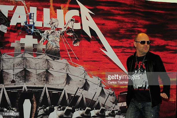 Lars Ulrich of Metallica in the press conference Metallica the full arsenal during the world tour to mark the celebration of the 30year history on...