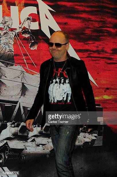 """Lars Ulrich of Metallica in the press conference """"Metallica the full arsenal"""" during the world tour to mark the celebration of the 30-year history,..."""