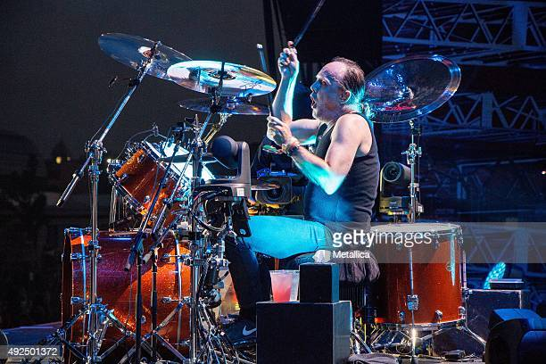 Lars Ulrich of Metallica performing at Rock in Vienna at Donauinsel Wien on June 4 2015 in Vienna Austria