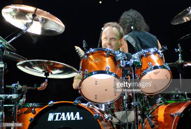 Lars Ulrich of Metallica performs at Save Mart Center on December 13, 2008 in Fresno, California.