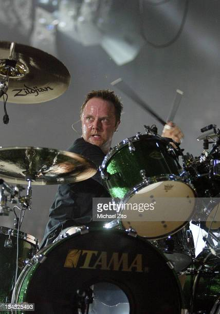 Lars Ulrich of Metallica performs at the Forum in Inglewood CA