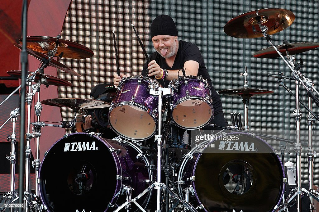 Lars Ulrich of Metallica performs during the 2016 Global Citizen Festival at Central Park on September 24, 2016 in New York City.