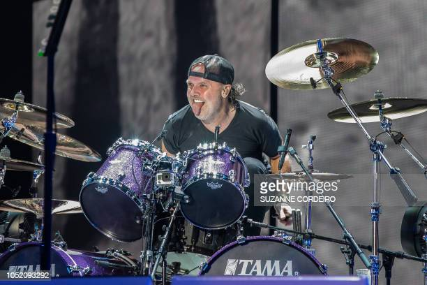 Lars Ulrich of Metallica performs during the 2018 Austin City Limits Music Festival at Zilker Park on October 13 2018 in Austin Texas