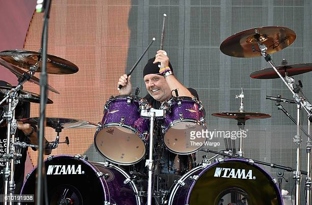 Lars Ulrich of Metallica performs onstage at the 2016 Global Citizen Festival In Central Park To End Extreme Poverty By 2030 at Central Park on...