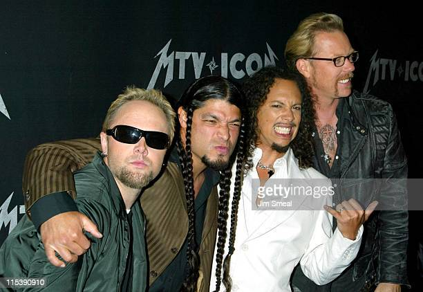 Lars Ulrich Robert Trujillo Kirk Hammett and James Hetfield of Metallica