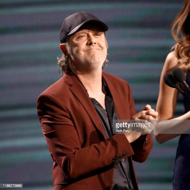 Lars Ulrich speaks onstage during the 20th annual Latin GRAMMY Awards at MGM Grand Garden Arena on November 14 2019 in Las Vegas Nevada