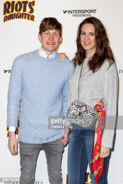 Lars Urban and Katrin Wrobel during the Rebekka Ruetz Fashion Show at Embassy of Austria on January 17 2018 in Berlin Germany
