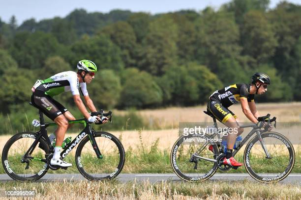 Lars Van Der Haar of The Netherlands and Team Telenet Fidea Lions / Nicolas Dougall of South Africa and Team Dimension Data / during the 39th Tour...