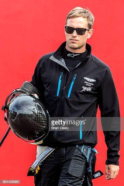 Lars Viljoen walks through the pits before the Roar Before the 24 IMSA WeatherTech Series testing at Daytona International Speedway on January 10...
