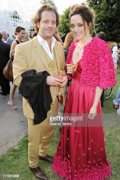 Lars von Bennigsen and Alice Temperley attend the annual Serpentine Gallery Summer Party cohosted by L'Wren Scott at The Serpentine Gallery on June...