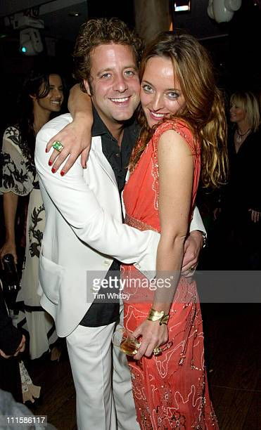 Lars von Benningson and Alice Temperley during London Fashion Week Spring 2005 Temperley's After Party at Kensington Roof Gardens in London Great...