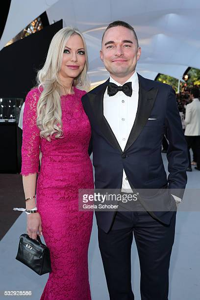 Lars Windhorst and his girlfriend Christine Barner attend the amfAR's 23rd Cinema Against AIDS Gala at Hotel du CapEdenRoc on May 19 2016 in Cap...