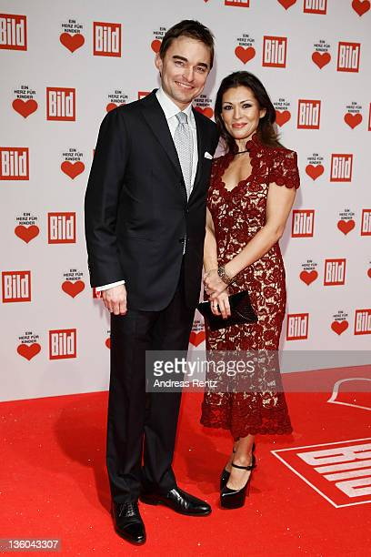 Lars Windhorst and wife arrive for the 'Ein Herz fuer Kinder' Charity gala on December 17 2011 in Berlin Germany