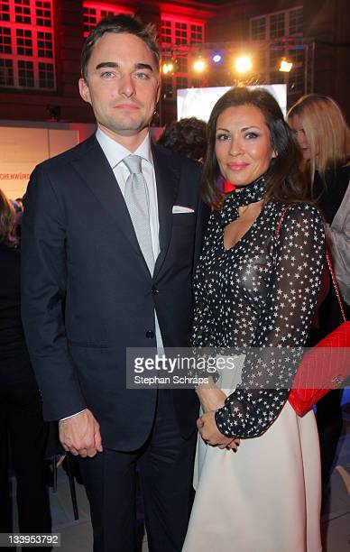 Lars Windhorst and wife Tatjana at the awarding ceremony of the 'Roland Berger Human Dignity Award' at the Deutsche Bank branch office Unter den...
