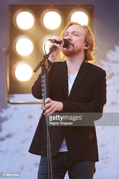 Lars Winnerback performs onstage during the second day of the Bravalla Festival on June 26, 2015 in Norrkoping, Sweden.