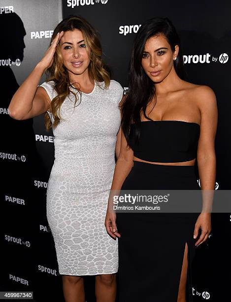 Larsa Pippen and Kim Kardashian attend Paper Magazine, Sprout By HP & DKNY Break The Internet Issue Release at 1111 Lincoln Road on December 4, 2014...