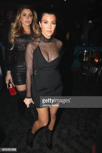 Larsa Pippen and Kourtney Kardashian attends the LIV On Sunday For MVP Weekend event At Avenue Los Angeles Hosted By French Montana and presented By...