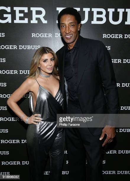 Larsa Pippen and Scottie Pippen attend the Haute Living NBA All Star Dinner Honoring Scottie Pippen on February 15 2018 in Bel Air California