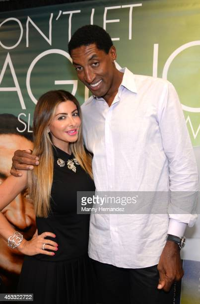 Larsa Pippen and Scottie Pippen attends the 2014 Market America International Convention at Greensboro Coliseum on August 6 2014 in Greensboro North...