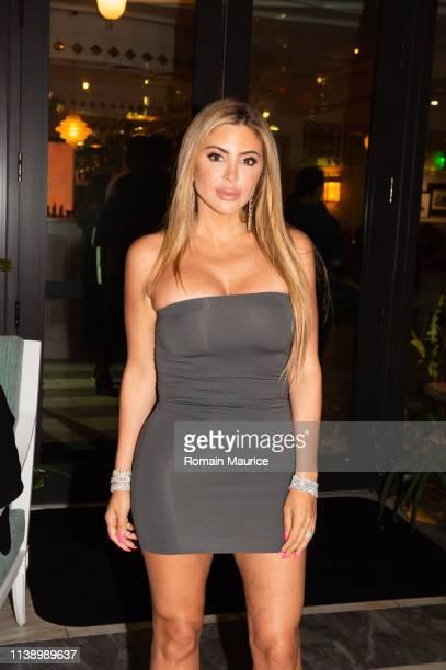 Larsa Pippen attends Haute Living Celebrate David Grutman Cover Party at Swan Miami on March 28 2019 in Miami Florida