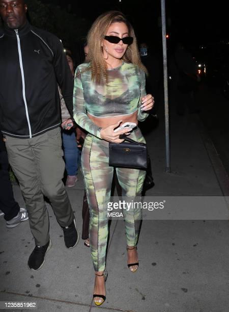 Larsa Pippen is seen on October 12, 2021 in Los Angeles, California.