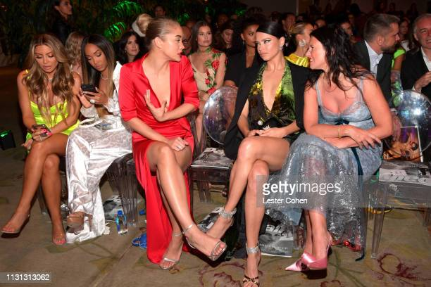 Larsa Pippen Malika Haqq Jasmine Sanders Adriana Lima and Katie Grand with FIJI Water at the 5th Annual Fashion Los Angeles Awards on March 17 2019...
