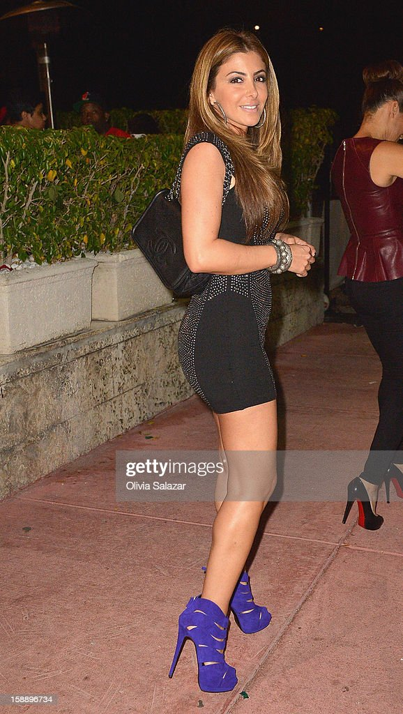 Larsa Younan Pippen is seen at Prime 112 Steakhouse on January 2, 2013 in Miami Beach, Florida.