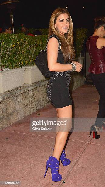 Larsa Younan Pippen is seen at Prime 112 Steakhouse on January 2 2013 in Miami Beach Florida