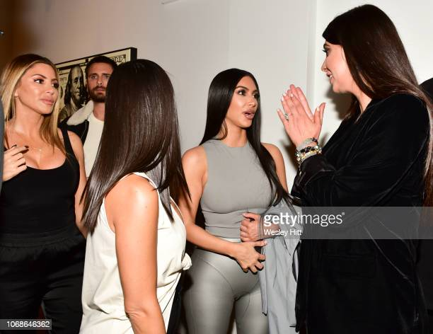 Larsa Younan Scott Disick Kourtney Kardashian Kim Kardashian and Brittny Gastineau at the VIP Exhibit Preview for Street Dreams on November 16 2018...