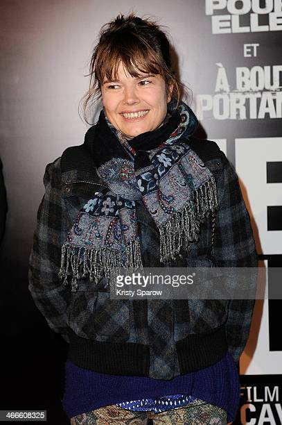 Larsen Kristina attends the 'Mea Culpa' Paris Premiere at Cinema Gaumont Opera Capucine on February 2, 2014 in Paris, France.
