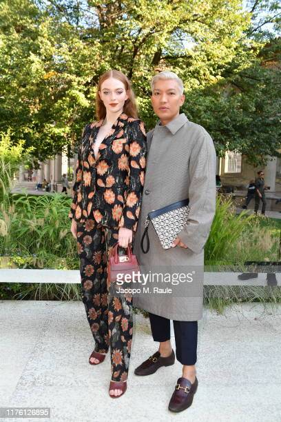 Larsen Thompson and Bryanboy attend the Salvatore Ferragamo show during Milan Fashion Week Spring/Summer 2020 on September 21, 2019 in Milan, Italy.