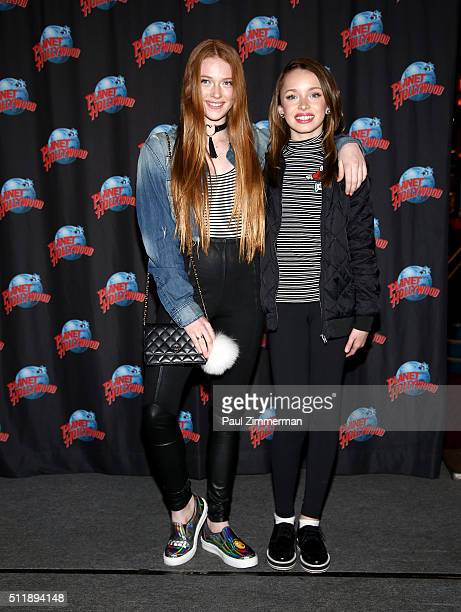 Larsen Thompson and Taylor Hatala visit Planet Hollywood Times Square at Planet Hollywood Times Square on February 23 2016 in New York City