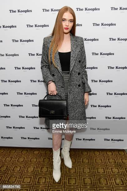 Larsen Thompson at The Kooples and Emily Ratajkowski LA Cocktail Event at Chateau Marmont on December 4 2017 in Los Angeles California