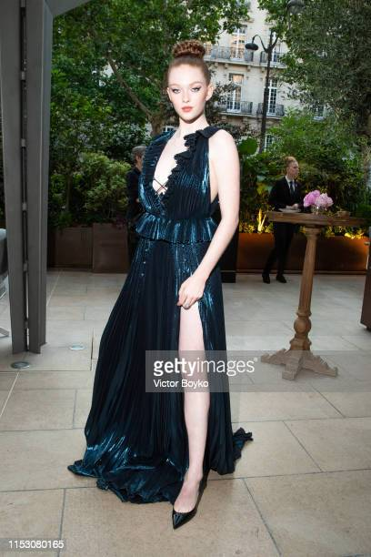 Larsen Thompson attends the Amfar Gala At The Peninsula Hotel In Paris on June 30 2019 in Paris France