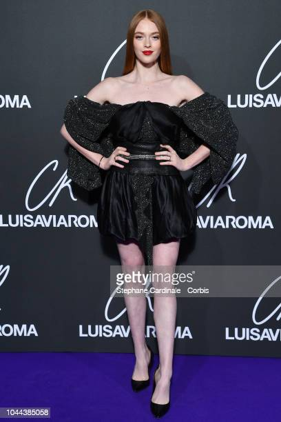 Larsen Thompson attends the CR Fashion Book x LuisaViaRoma Photocall as part of the Paris Fashion Week Womenswear Spring/Summer 2019 on October 1...