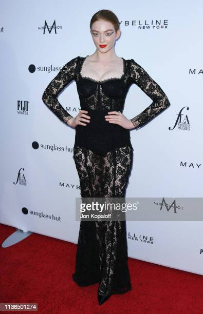 Larsen Thompson attends The Daily Front Row's 5th Annual Fashion Los Angeles Awards at Beverly Hills Hotel on March 17 2019 in Beverly Hills...