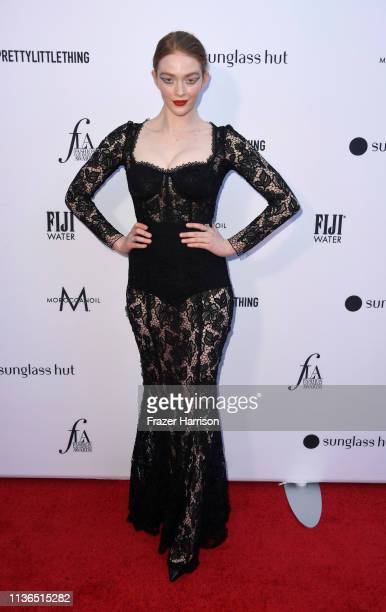 Larsen Thompson attends The Daily Front Row's 5th Annual Fashion Los Angeles Awards at Bevserly Hills Hotel on March 17 2019 in Beverly Hills...