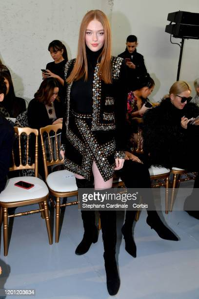 Larsen Thompson attends the Elie Saab Haute Couture Spring/Summer 2020 show as part of Paris Fashion Week on January 22, 2020 in Paris, France.